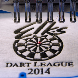 Elk's Dart League 2014 Embroidery