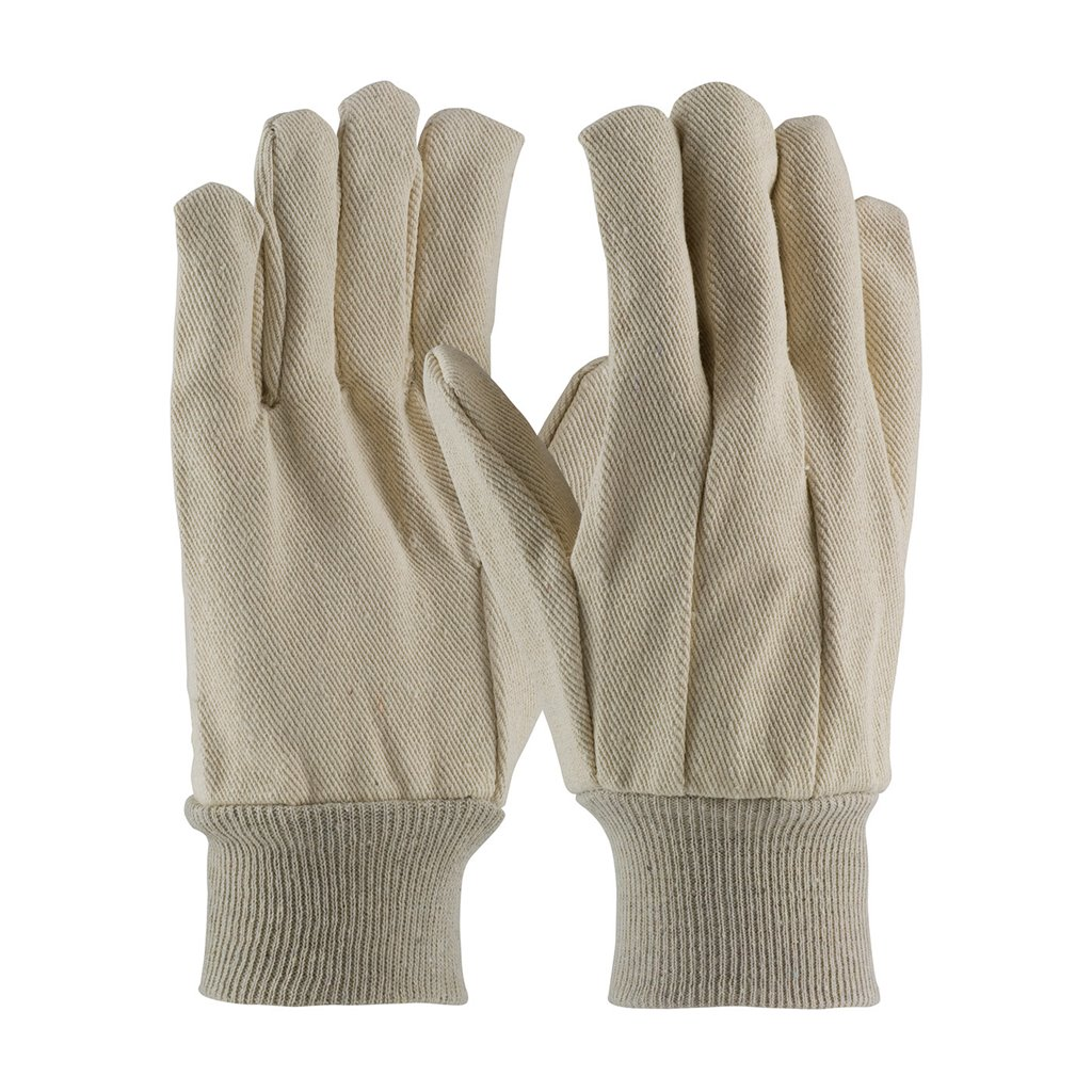 Ribbed Cotton Canvas Gloves