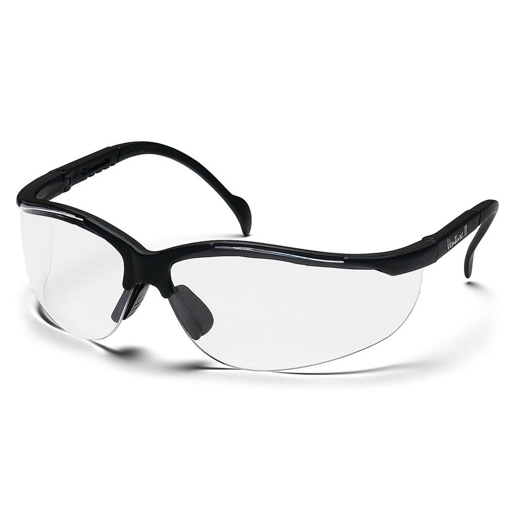 Pyramex SB1830S Venture ll Safety Glasses Black Frame w//Amber Lens