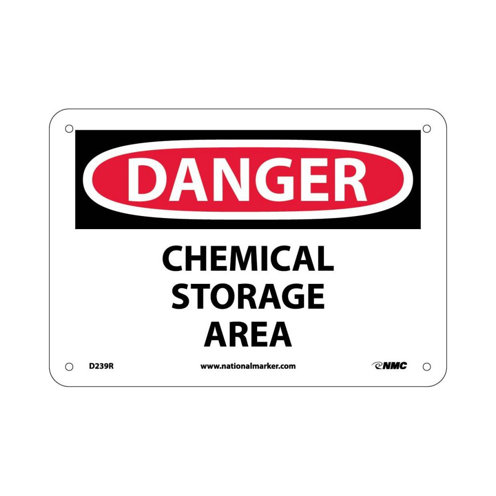 Sig D239r Sigd239r Sign 7x10 Rp Chemical Storage Area
