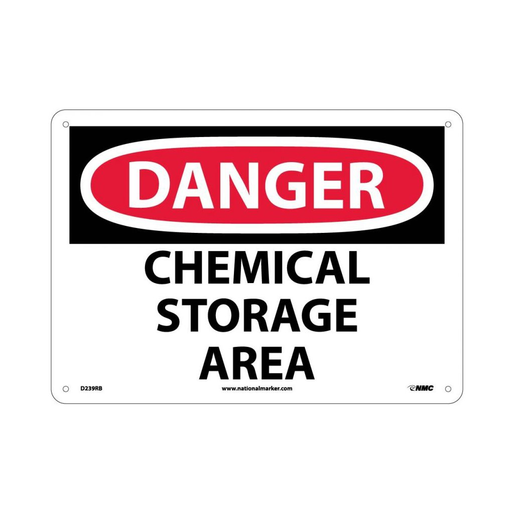 Sig D239rb Sigd239rb Sign 10x14 Rp Chemical Storage Area