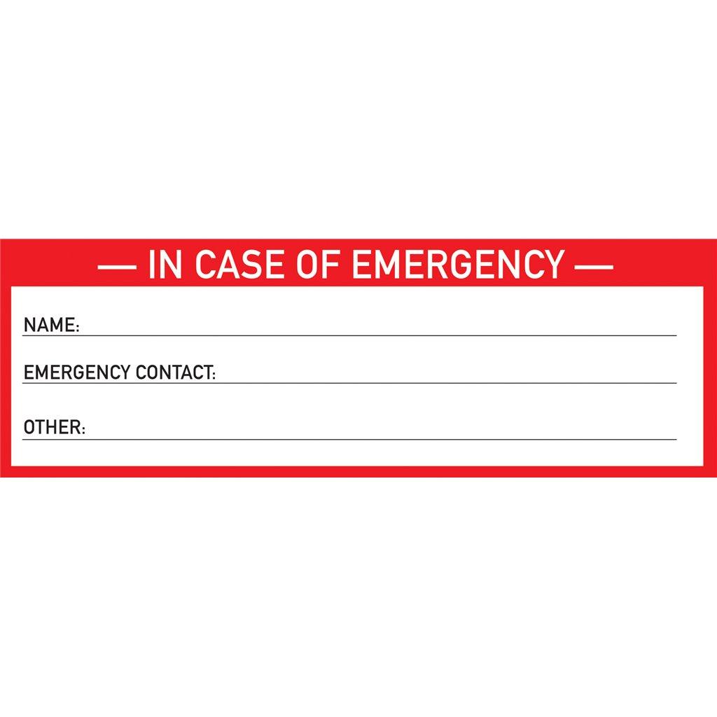 Stk hh0011stkhh0011sticker in case of emergency 2inmastermans