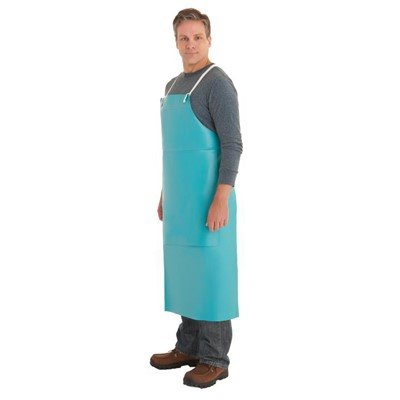 Aprons PVC 18mil 33in x 49in GRN w/Patch