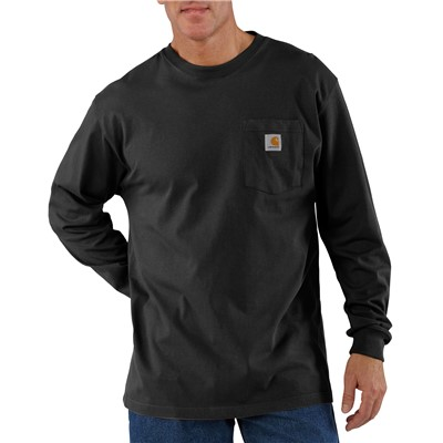 T-Shirt L/S Workwear BLK 4X