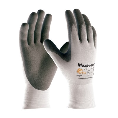Gloves MaxiFoam Premium PC WHT/GRY XS