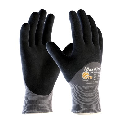 Gloves MaxiFlex Ultimate 3/4 GRY/BLK LG