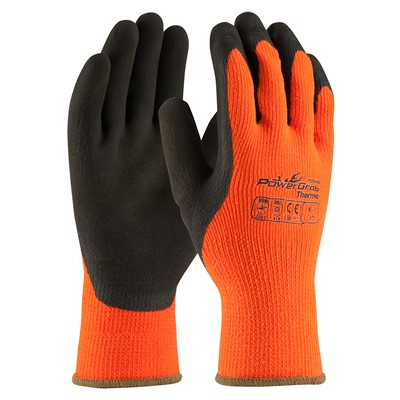 Gloves PowerGrab Thermo PC HVO/BRN 2X