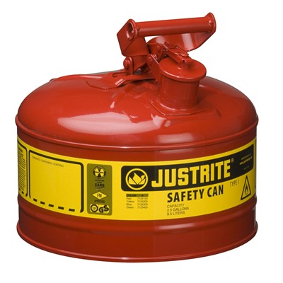 Can Safety 2.5gal Steel Type I RED
