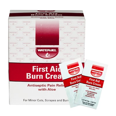 Burn Cream First Aid w/Aloe 0.9gm Packs