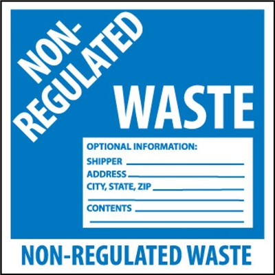 Label 6x6 Non-Regulated Waste