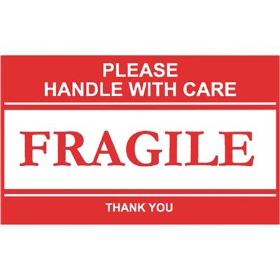 Label 2-1/2x4 PS paper Fragile