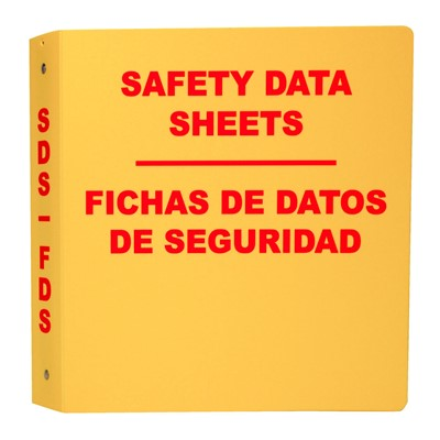Bilingual SDS Binder 11.5inx11.5inx3.5in