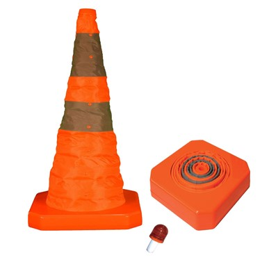 Cone 28in Reflective Collapsible w/LED