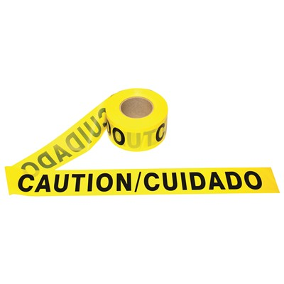 Barricade Tape Bilingual Caution 2mil
