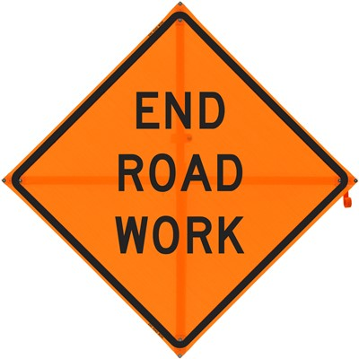 Roll Up Sign 36x36 End Road Work