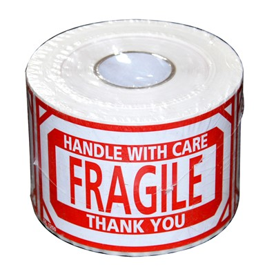 Label 5inx3in Fragile Handle With Care