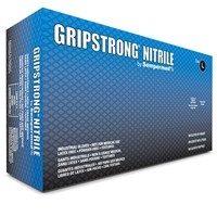 Gloves GripStrong Nitrile PF BLU LG