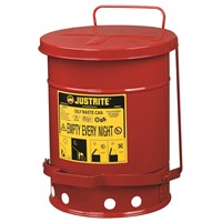 Can Metal Oily Waste 6gal RED