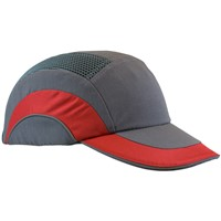 Bump Caps A1+ Baseball Cap GRY/RED